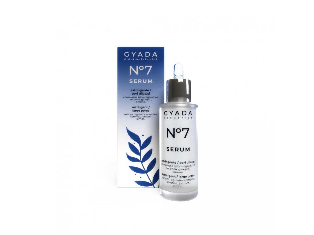 Pleťové sérum pro rozšířené póry s výtažky z jalovce italská vegan kosmetika Gyada Cosmetics VEGAN
