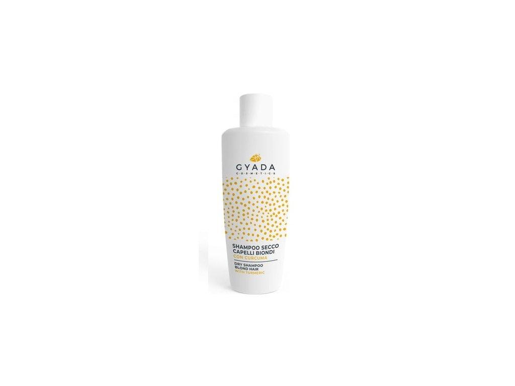 Suchý šampón pro blond vlasy s extrakterm z kurkumy Gyada Cosmetics distribuce pro ČR a SR