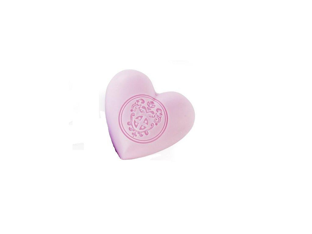 Mýdlové srdce s vůní Grasské růže z Provence parfumérie Galimard eshop Amande Lux
