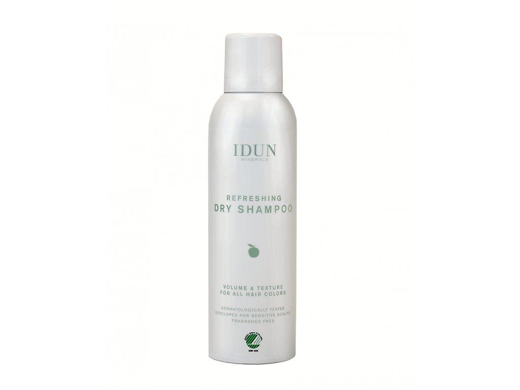 Suchý šampón i pro citlivou pleť Idun Minerals udržitelná krása a eko obal