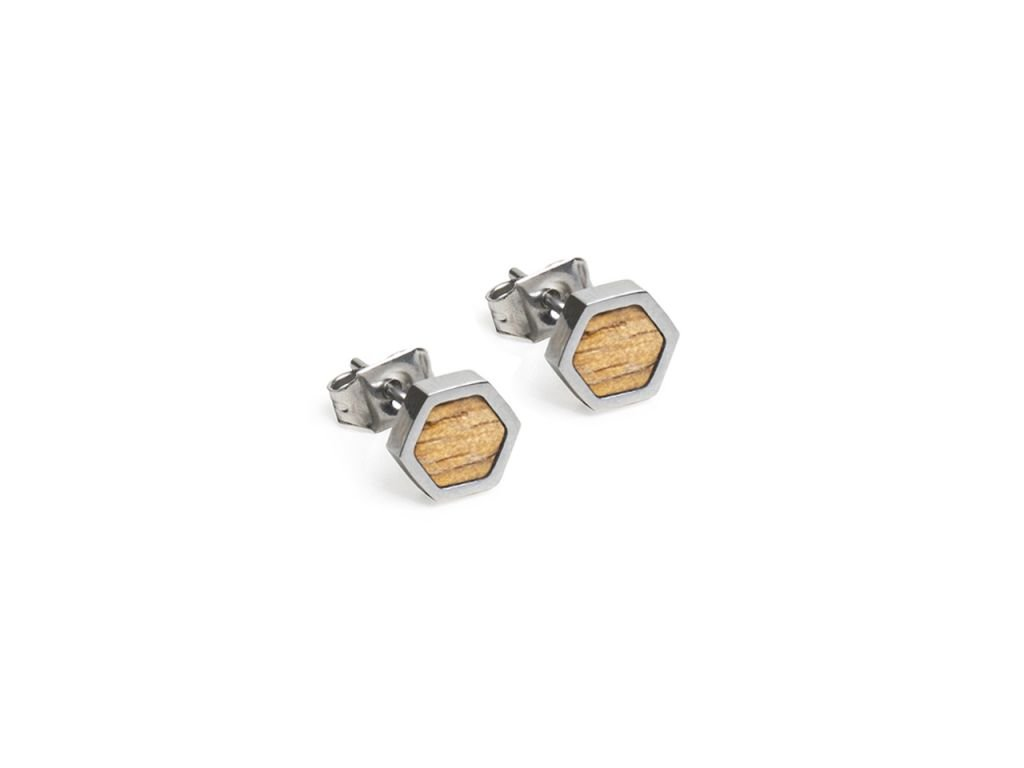 lini hexagon earrings