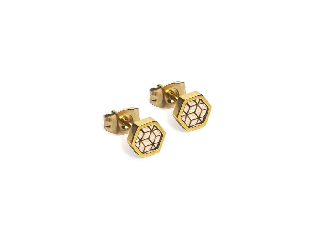virie hexagon earrings