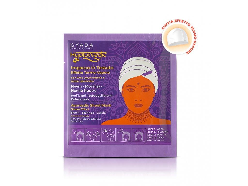 Ajurvédská maska na vlasy s kyselinou hyaluronovou Rovnována a výživa Gyada Cosmetics eshop Amande Lux