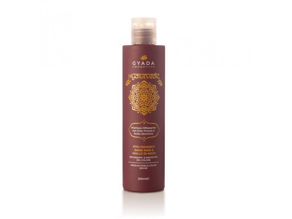 Ajurvédský šampón pro oživení barvy hnědých vlasů eshop s přírodní kosmetikou Amande Lux