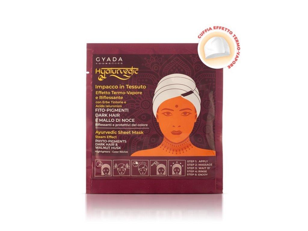 Ajurvédská bylinná maska pro oživení barvy na hnědé vlasy eshop s přírodní kosmetikou Amande Lux