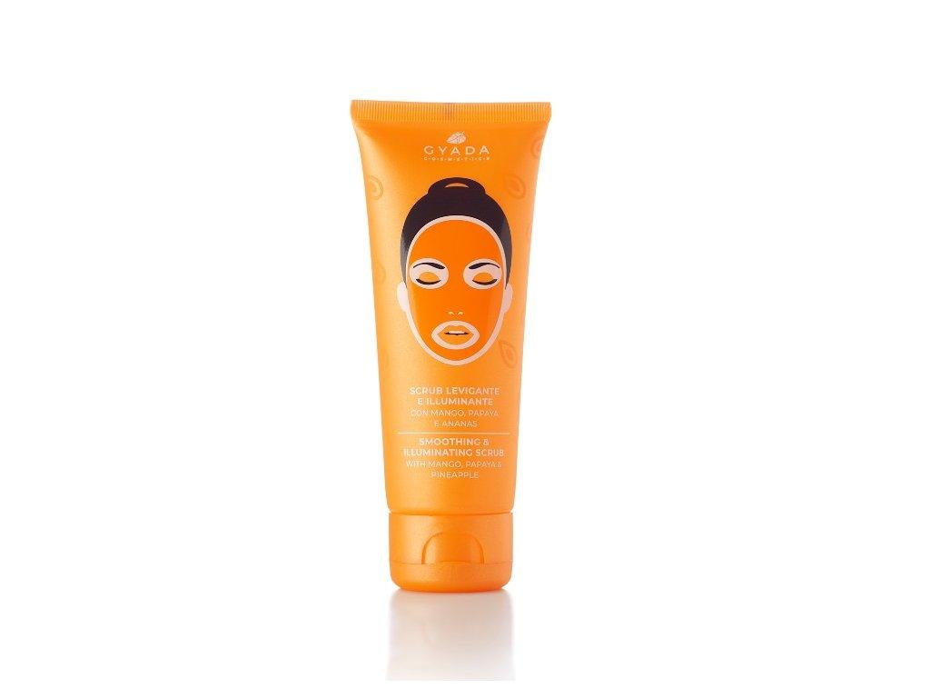 Jemný obličejový peeling s vitamínem C přírodní bio kosmetika Gyada Cosmetics