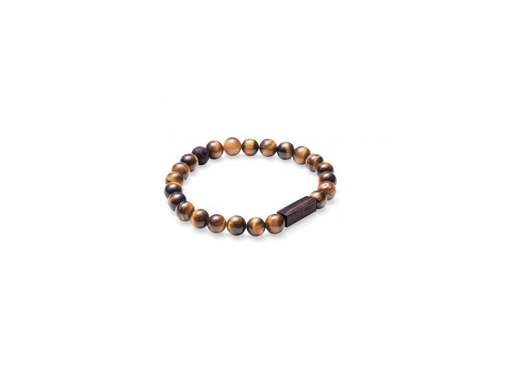 Pánský módní náramek hnědý tigris bracelet ruční česká výroba BeWooden eshop pro elegány Don Pomerancho