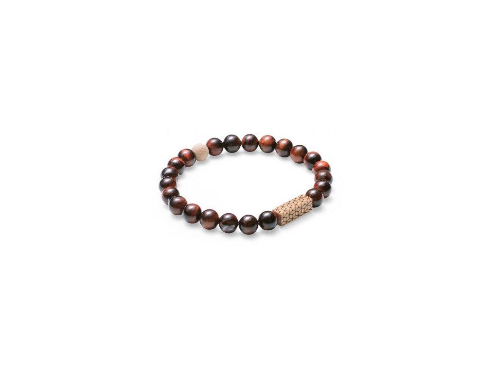 Náramek pro muže hnědý kamen a dřevo virie bracelet ručně vyrobený BeWooden pánský eshop Don Pomerancho