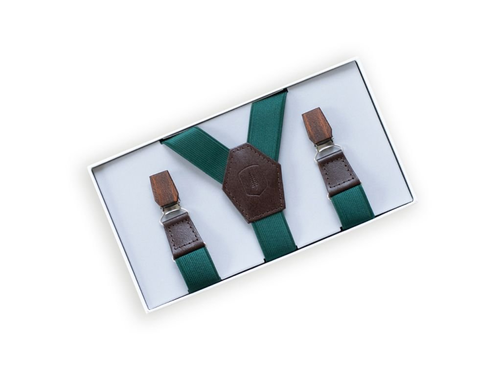 0 forest green suspenders