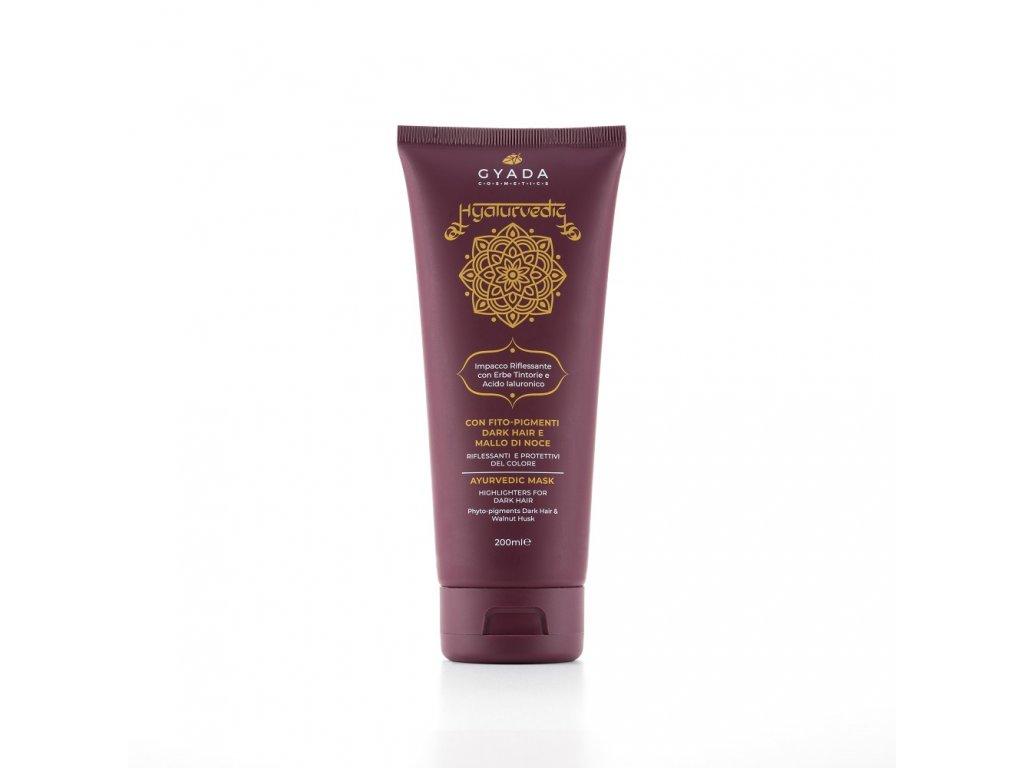 Ajurvédská pigmentová maska na vlasy pro oživení barvy hnědých vlasů eshop s přírodní kosmetikou Amande Lux