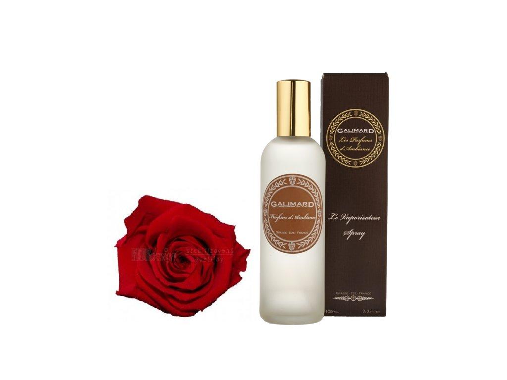 Luxusní bytový parfém s přírodními složkami s vůní RŮŽE A PIŽMA francouzská parfumerie Galimard