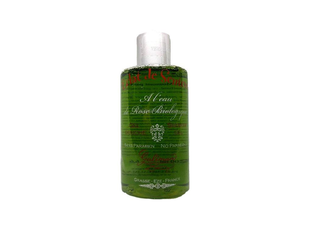 Sprchový gel s organickou růžovou vodou Oslava vůně Verbena parfumerie Galimard