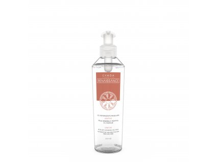 Vegan micelární gel pro citlivou pokožku na každodenní použití italská přírodní kosmetika Gyada Cosmetics testovaná na nikl