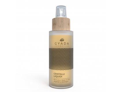 Vlasový olej s tekutými krystaly pro suché a zničené vlasy a jako výživa pro všechny typy vlasů. Italská přírodní kosmetika Gyada cosmetics testovaná na nikl