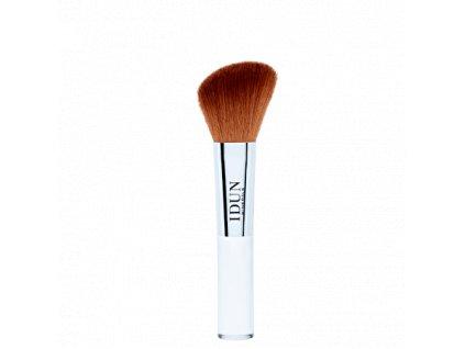 Hypoalergenní kosmetický štětec Blush je ideální ke kontorování, nanášení tvářenky a bronzerů. Vhodný i pro alergiky. Švédská vegan kosmetika Idun Minerals