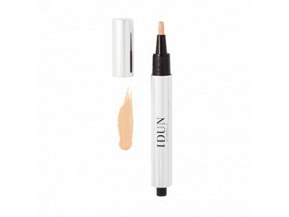 Pero korektor se štětcem světlý odstín Idun Minerals vhodný i pro citlivou pleť