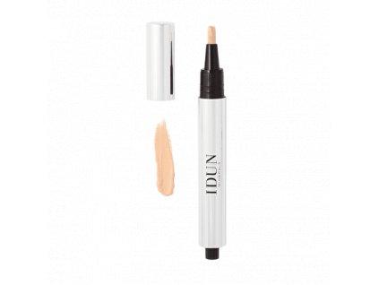 Pero korektor se štětcem světlý odstín švédská kosmetika Idun Minerals vhodný i pro citlivou pleť vegan
