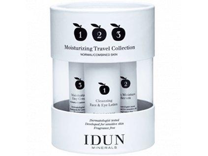 Hydratační cestovní sada vegan kosmetika vhodná i pro alergiky a astmatiky Idun Minerals