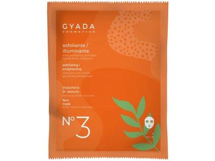 Rozjasňující plátýnková maska přírodní vegan testovaná na nikl Gyada Cosmetics