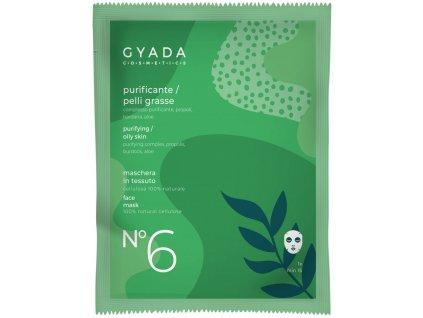 Přírodní plátýnková vegan maska pro mastnou a aknózní pleť italská kosmetika Gyada Cosmetics velkoobchod www.amandelux.com