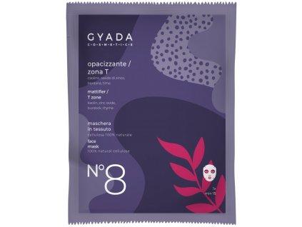 Přírodní plátýnková vegan maska pro harmonizaci zóny T Gyada Cosmetics velkoobchod www.amandelux.com