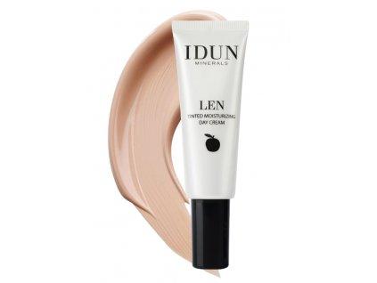 Light Medium Tónovací hydratační krém Len pro citlivou pleť Idun Minerals