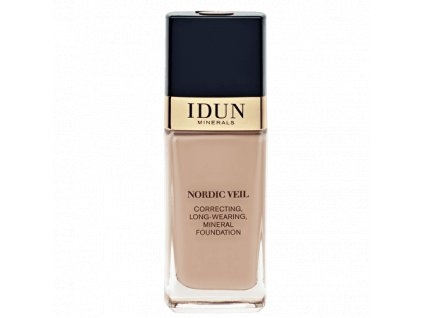 Liquid Foundation Nordic Veil INGRID tekutý makeup s plným krytím Idun Minerals