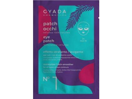 Plátýnkové přírodní polštářky na kruhy pod očima hydratační Gyada Cosmetics vegan