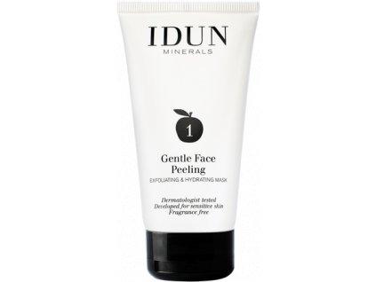 Jemný obličejový peeling vhodný i pro velmi citlivou pleť Idun Minerals skincare face peeling