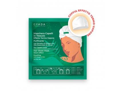 Vlasová termo maska ideální pro mastné vlasy s výskytem lupů Gyada cosmetics