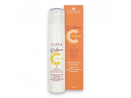 Pleťový krém s vitamínem C a kyselinou hyaluronovou vegan Gyada Cosmetics Eshop Amande Lux