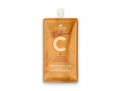 Pleťová maska s vitamínem C pro obnovu tvorby kolagenu v pleti vegan Gyada cosmetics eshop Amande Lux