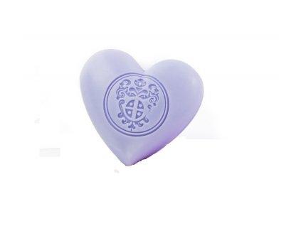 Mýdlové srdce levandulové z Provence parfumérie Galimard eshop Amande Lux