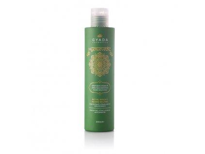 Ajurvédský šampón na podporu rustu vlasů a proti vypadávání s kyselinou hyaluronovou Rovnována a výživa Gyada Cosmetics eshop Amande Lux