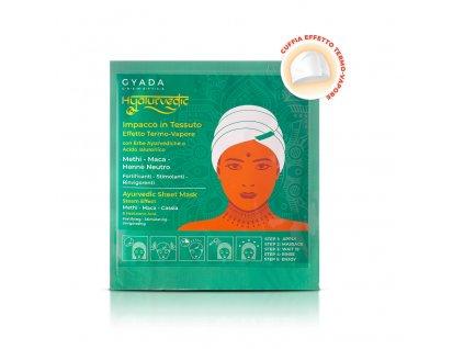Ajurvedská vlasová maska proti vypadávání vlasů a podpora růstu vlasů Gyada Cosmetics eshop Amande Lux