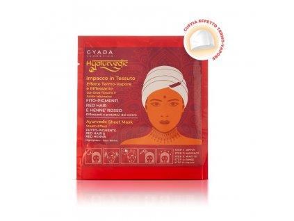 Ajurvédská bylinná maska pro oživení barvy na červné vlasy eshop s přírodní kosmetikou Amande Lux