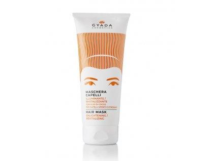 Rozjasňující a revitalizační maska na vlasy Gyada Cosmetics eshop Amande Lux