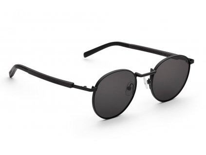 runde metall sonnenbrille schwarz john schwarzes eichenholz take a shot
