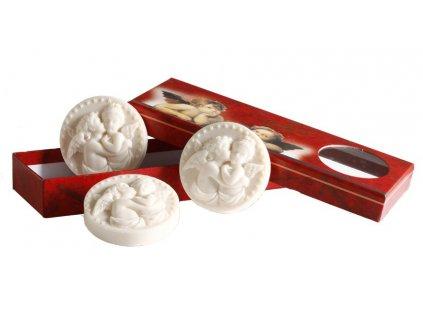 Francouzská mýdla ručně vyráběná za použití starobylých forem parfumerie Galimard