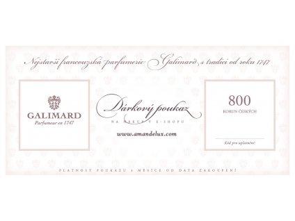 Amande Lux Dárkový poukaz 800 Kč originální dárky pro muže dárky pro ženy luxusní dárek nejstarší francouzská parfumerie Galimard
