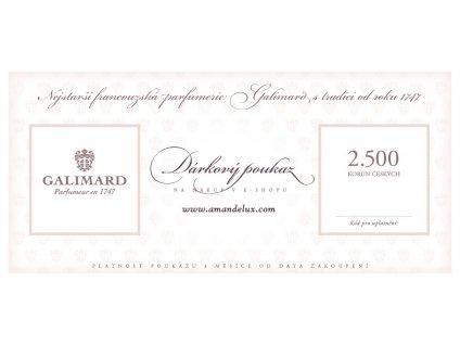 Amande Lux Dárkový poukaz 2500 Kč originální dárky pro muže dárky pro ženy luxusní dárek nejstarší francouzská parfumerie Galimard