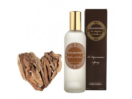 Luxusní bytový parfém s přírodními složkami s vůní DŘEVA A TONKY francouzská parfumerie Galimard