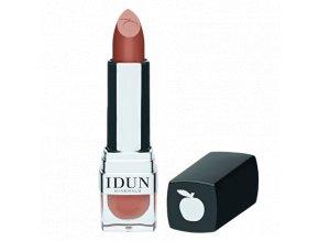 idun minerals minerální matná rtěnka Lingon luxusní odstín pro smyslnost vašich rtů