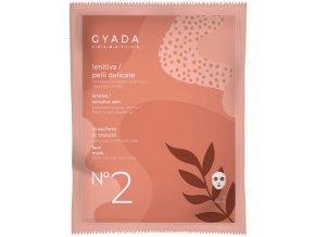 Přírodní plátýnková maska vegan zklidňujicí pro citlivou pleť Gyada cosmetis velkoobchod s přírodní kosmetikou www.amandelux.com