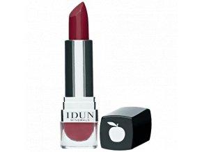Luxusní matná minerální rtěnka s vysokou pigmentací tmavý červený tón vhodná i pro alergiky a astmatiky Idun Minerals
