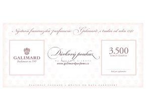 Dárkový poukaz dárky pro muže dárky pro ženy nejstarší francouzská parfumerie Galimard 3.500 Kč