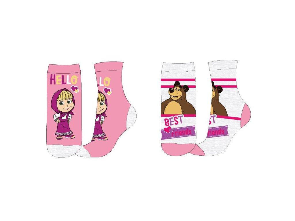 Klasické ponožky MÁŠA A MEDVĚD