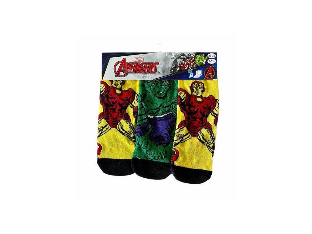 Klasické ponožky AVENGERS 3 pack