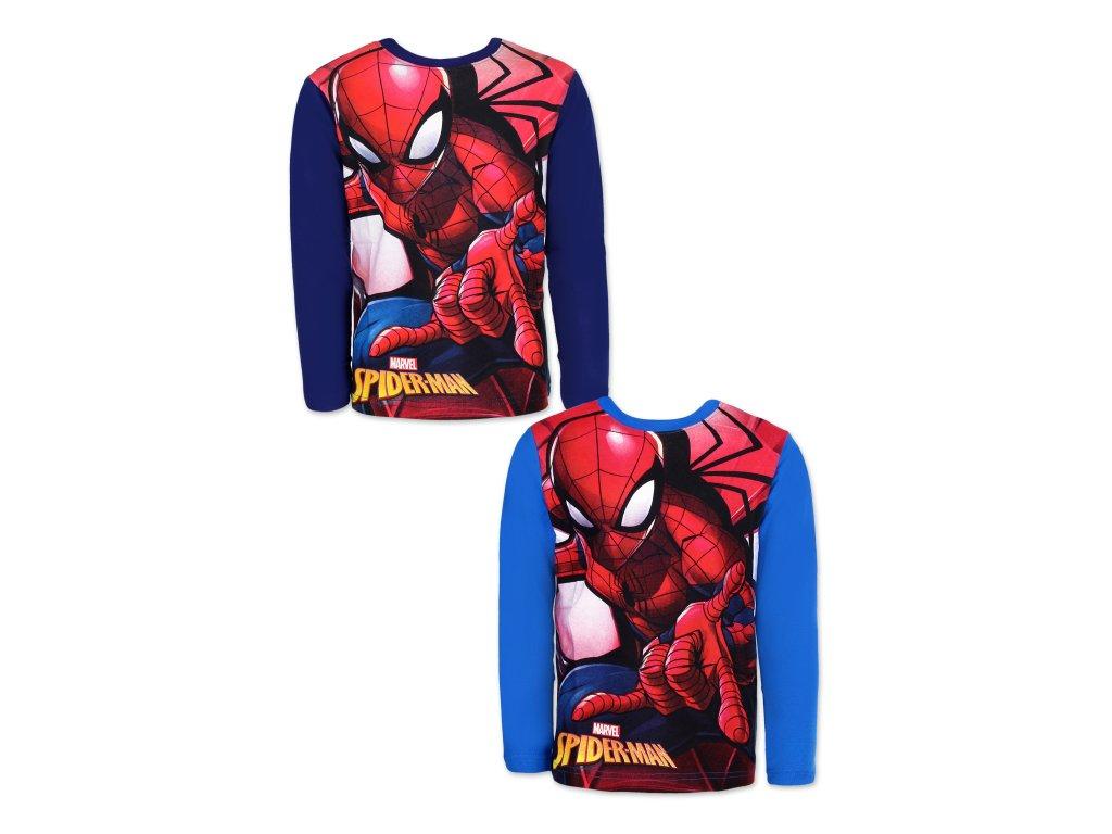 Tričko SPIDERMAN dlouhý rukáv modré