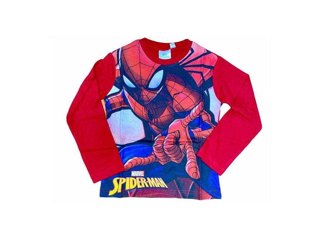 Tričko SPIDERMAN dlouhý rukáv červené